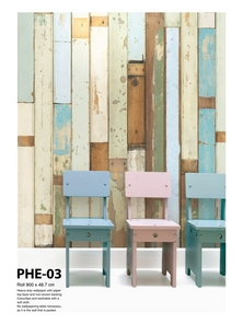 Scrap Wood Wallpaper PHE-03