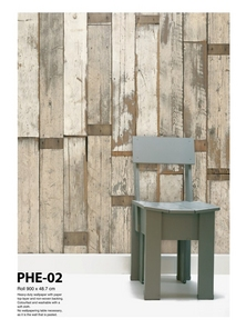 Scrap Wood Wallpaper PHE-02